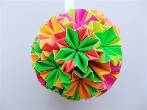 origami bauble paper origami bauble hanging ornament decoration