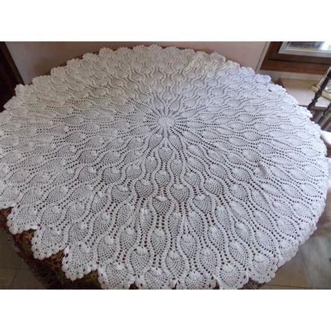 nappe crochet d fait blanche 115 cm promo achat vente nappe de table cdiscount