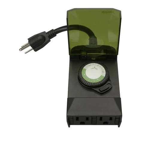 outdoor light timer woods 24 hour outdoor mechanical light timer 3 conductor