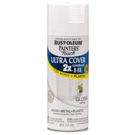 home depot spray paint theft rust oleum painter s touch 2x 12 oz gloss white general