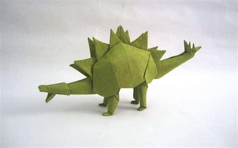 origami stegosaurus this week in origami autumn dinosaur edition