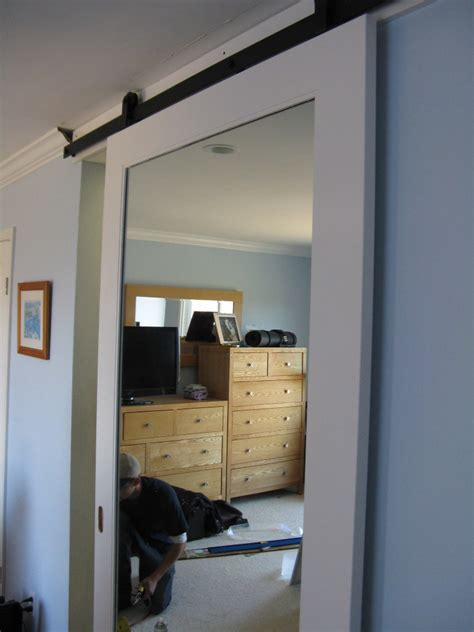 mirrored barn door sliding barn door mirror barn door in belmont stuff to