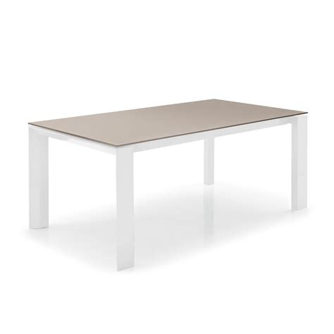 Table En Bois Blanc 4058 cs4058 lv 160 omnia glass table calligaris en bois avec