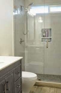 pictures of walk in showers in small bathrooms walk in shower small bathroom with niche and brushed