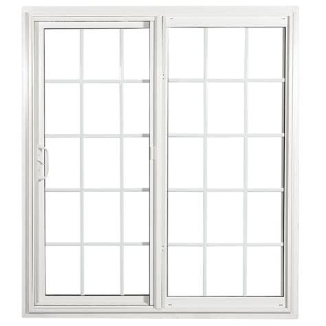 sliding vinyl patio doors shop reliabilt 332 series 70 75 in grilles between the