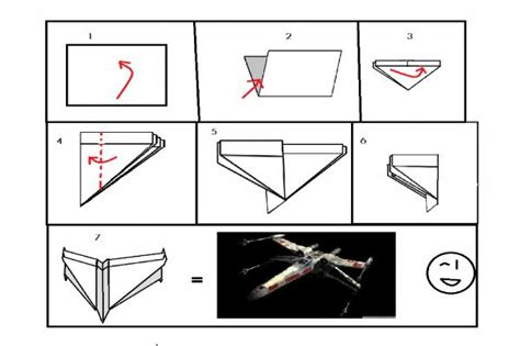 how to make an easy origami x wing simple x wing origami intructions origami yoda