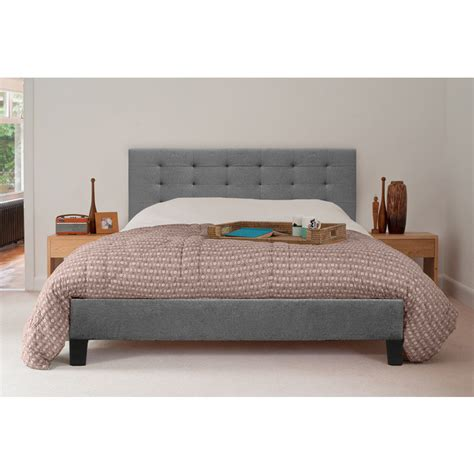 size fabric bed frames kensington size fabric bed frame in grey buy