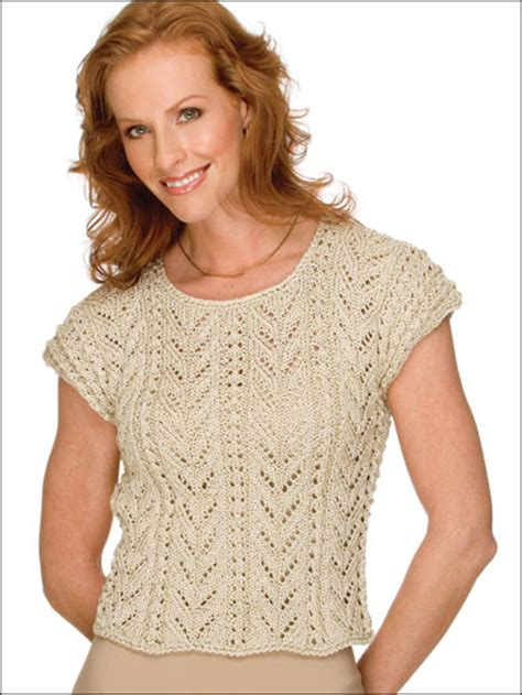 knitted cotton top patterns free sleeved sweater knitting patterns rich fronds