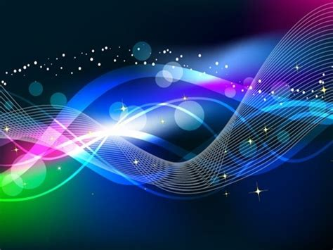 light graphics abstract wave color light background vector free vector