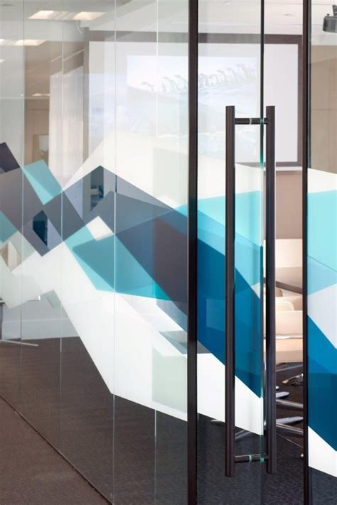 glass wall design algomi headquarters cool patterns frosting on