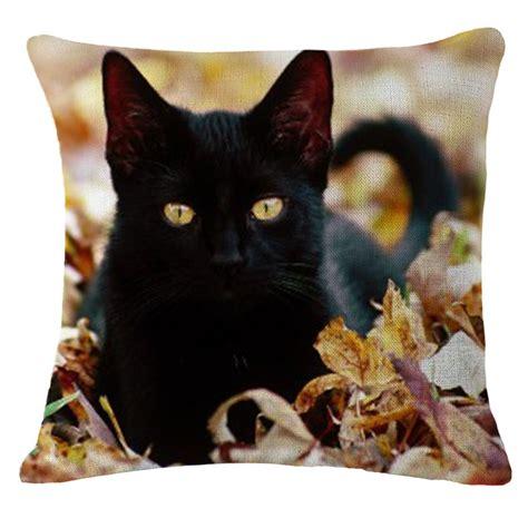 cat home decor cat black cat home decor throw pillow sofa waist