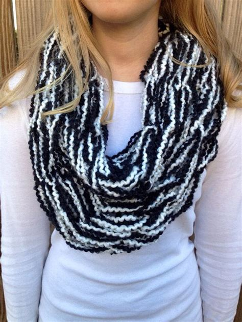 arm knitted infinity scarf black and white arm knit infinity scarf arm knit scarf