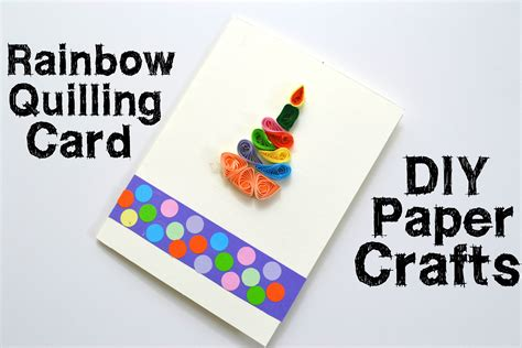 paper card crafts how to make a quilling gift card diy bithday gift idea