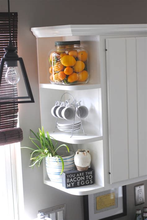 kitchen corner shelves ideas 15 minute decorating displaying favorite objects lemonade