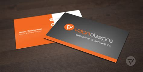 card for business cards vzion designs