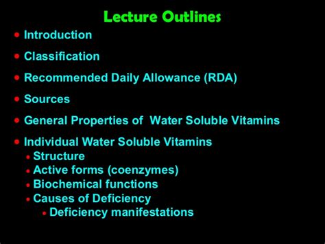 which property causes water to form water soluble vitamins