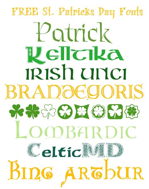 st font free fonts for st patricks day made in a day
