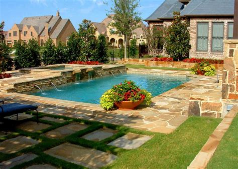 awesome backyard pools backyard swimming pool designs with awesome landscaping
