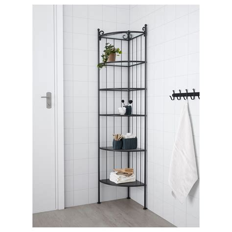 ikea corner shelves r 214 nnsk 196 r corner shelf unit black ikea