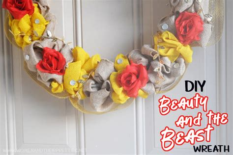 the beast crafts for diy and the beast wreath diy disney wreath