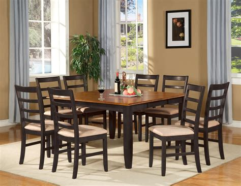 table dining room sets 9 pc square dinette dining room table set and 8 chairs ebay