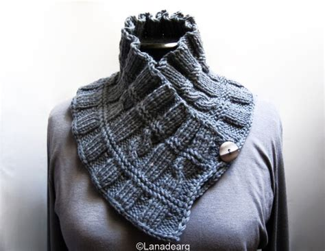 how to knit collar knitted ruffled scarf collar neckwarmer gift