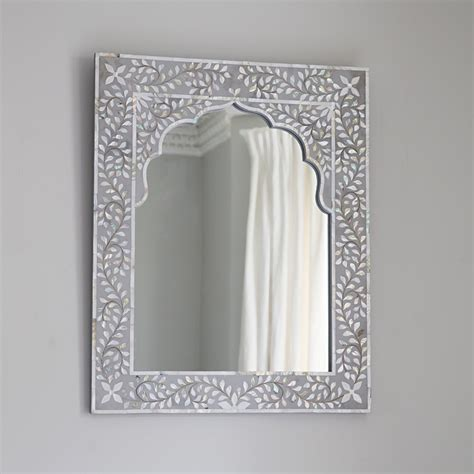 Traditional Sofas by Kasbah Mother Of Pearl Wall Mirror In Steeple Grey