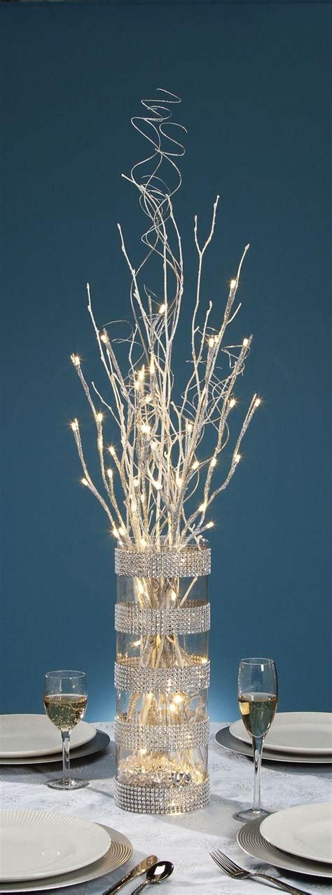 branch centerpieces lighted branch centerpiece