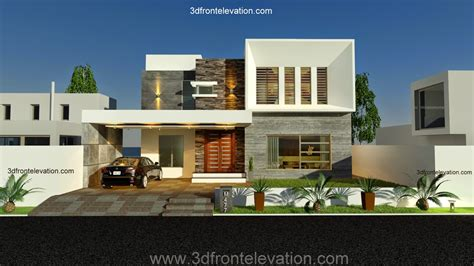 house designes 3d front elevation new 1 kanal contemporary house