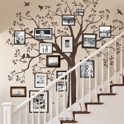 wall decor tree stickers staircase family tree wall decal tree wall decal
