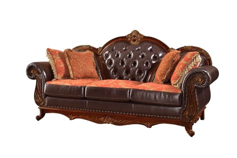 tufted living room furniture traditional brown button tufted leather living room