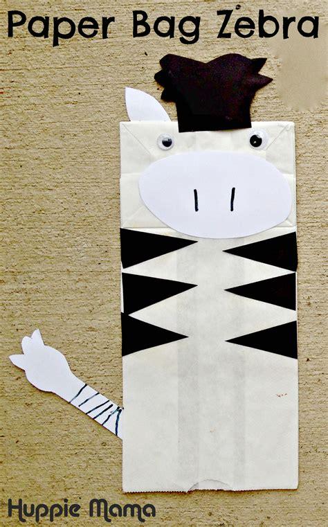 zebra craft for paper bag zebra our potluck family