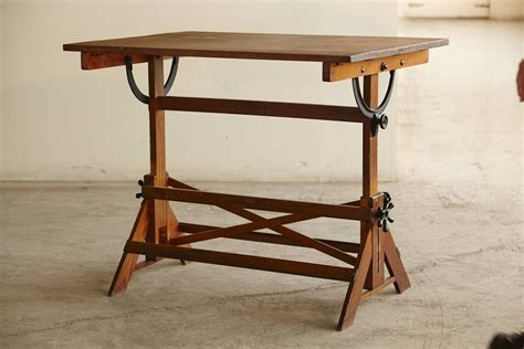 drafting table antique antique industrial american oak drafting table at 1stdibs