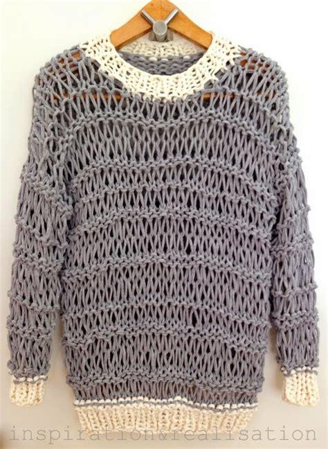 knitting t shirt yarn inspiration and realisation diy fashion diy open