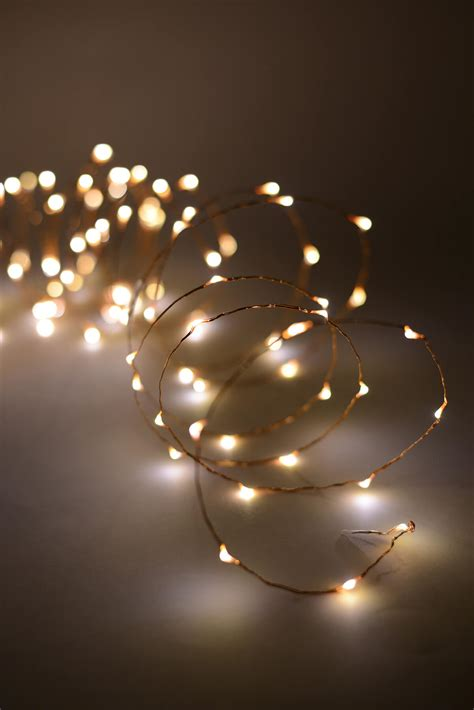 of led lights led 20 lights copper wire with 120ct warm white