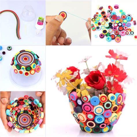 handmade craft ideas paper quilling creative ideas diy bright quilling vase
