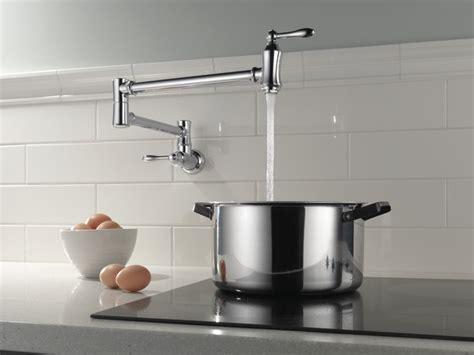 kitchen pot filler faucets traditional wall mount pot filler 1177lf delta faucet