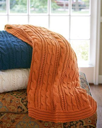 orange cable knit throw cable knit cotton throw horchow now fall