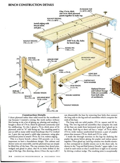 woodworking plans book 17 best images about free workbench plans on
