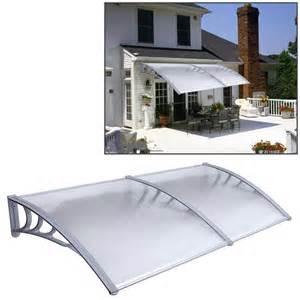 patio door cover 1mx2m diy outdoor polycarbonate front door window awning