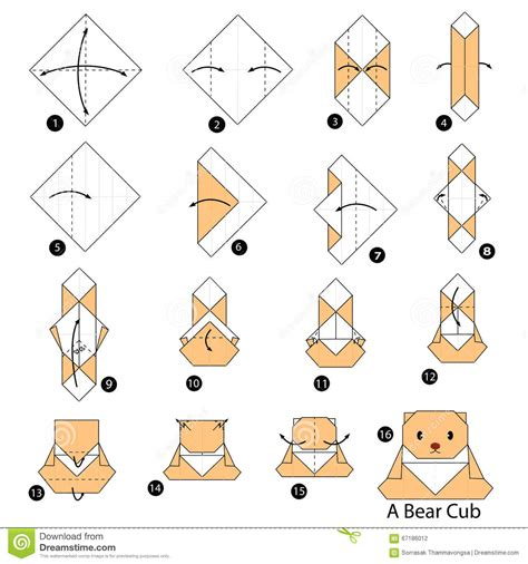 how to make an origami l step by step how to make origami a cub
