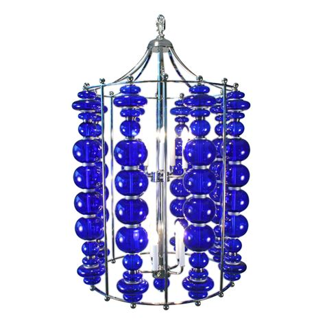 cobalt blue chandelier modern cobalt blue blown glass custom chandelier lighting deco decor custom
