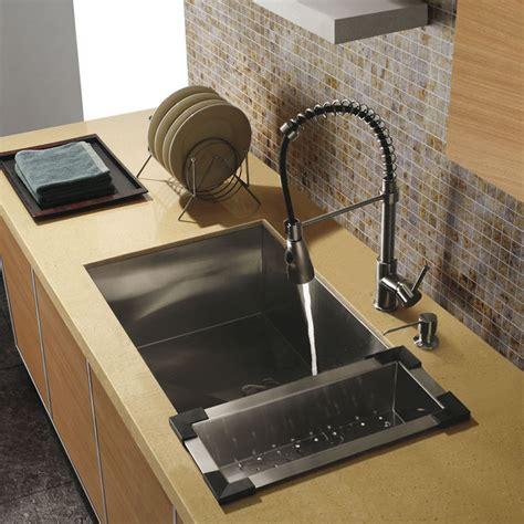 traditional kitchen sinks vigo platinum series undermount kitchen sink faucet