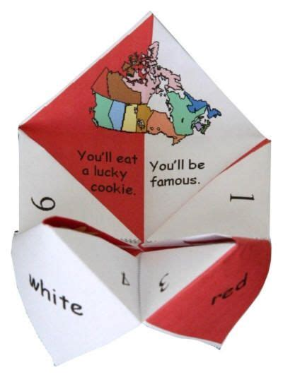 fortune teller paper craft 17 best images about canada day crafts on