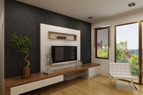 tv panel design white tv cabinet with contrast wallpaper ipc338