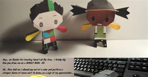 paper craft central ninjatoes papercraft weblog d l kinect dancecentral
