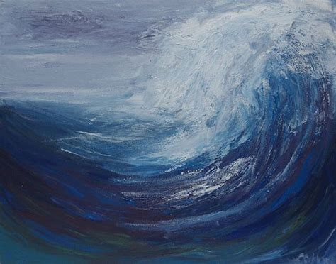 acrylic painting waves abstract wave painting acrylic painting original
