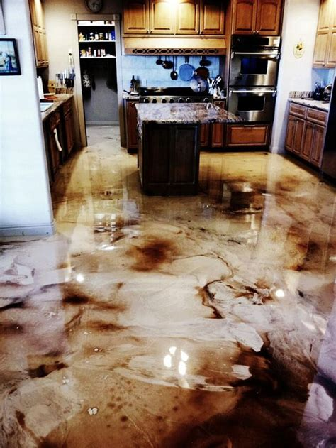 epoxy kitchen floor flooring info diy countertop bar top and flooring