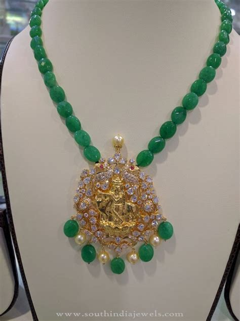 how to make gold beaded jewelry gold emerald necklace south india jewels