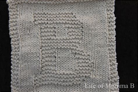 how to knit letters b dishcloth 5 of 12